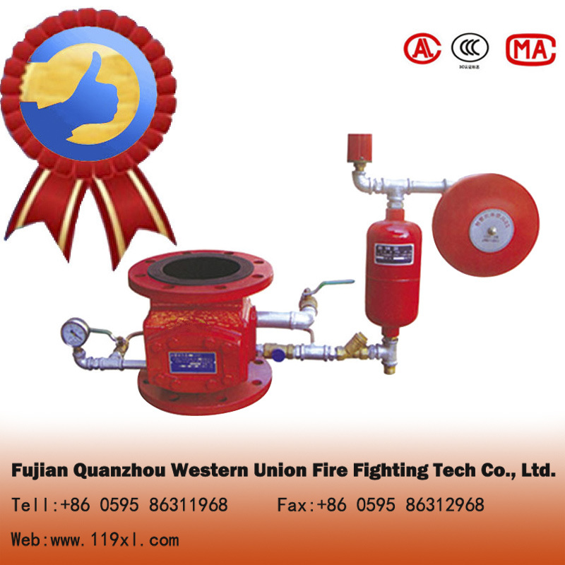Wet fire alarm check valve