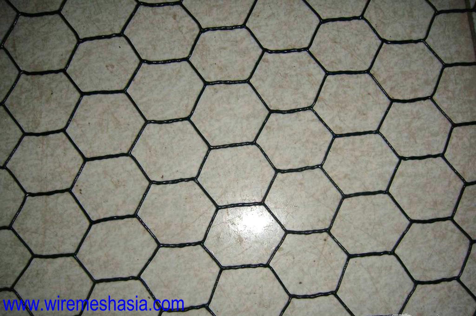 China pvc coated hexagonal wire mesh