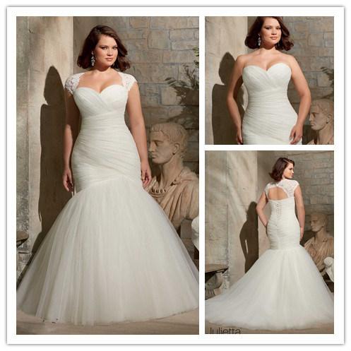 China mermaid plus size wedding dress xz518 china plus for Plus size mermaid wedding dresses