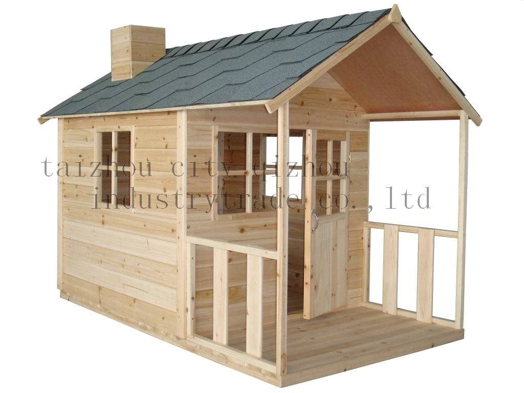 China wooden play house tfh022 china play house Wooden homes to build