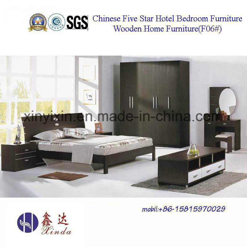 Vietnam Wooden Bed with Leather Modern Bedroom Furniture (B706A#)