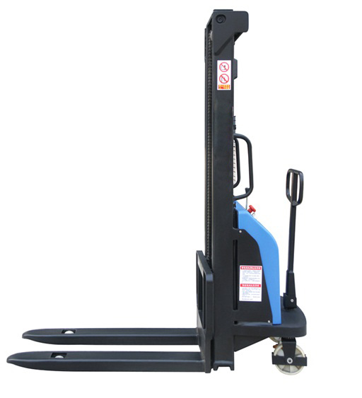 1ton Semi Electric Stacker with 1.6m 2.5m 3m 3.5m Height