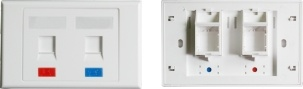 Network Face Plate for Cat5e/ CAT6