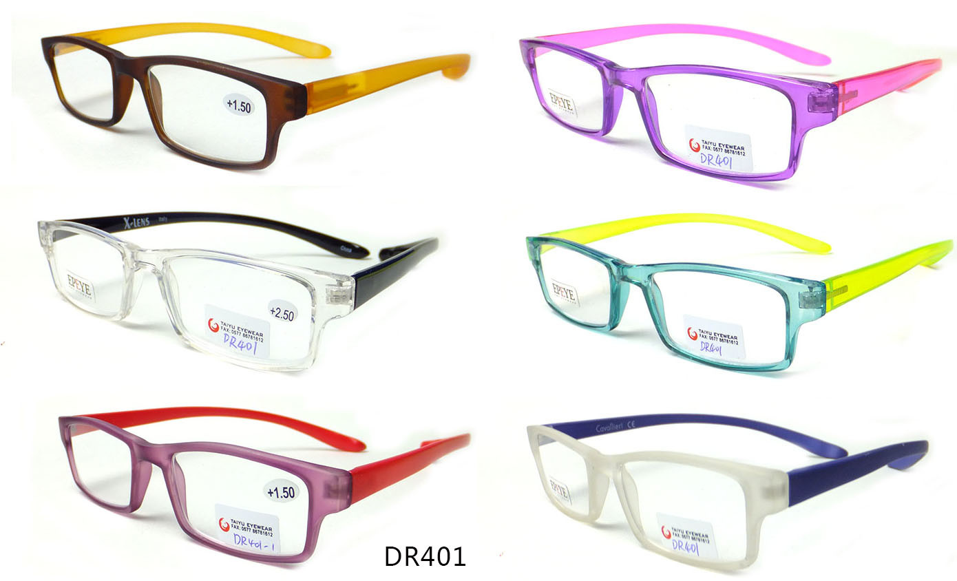 Tr90 Long Temple Reading Glassses with Spring Fashion Reading Glasses