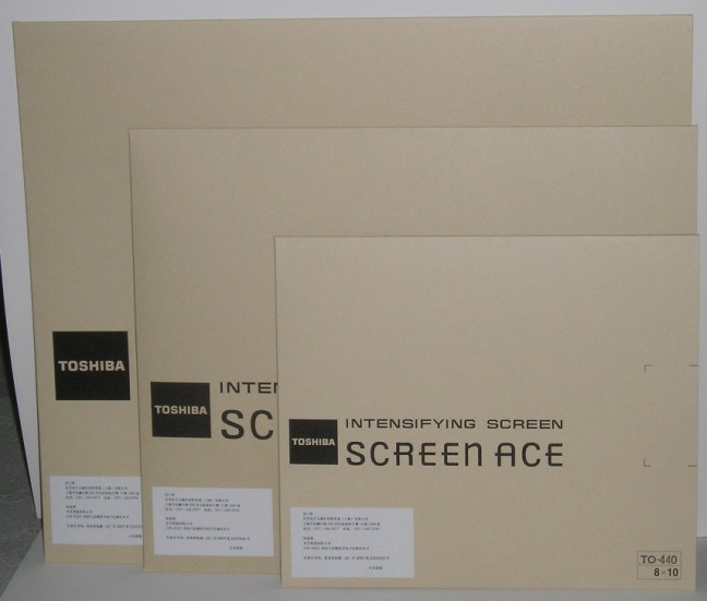 Intensifying Screen /Toshiba 440/ Xray