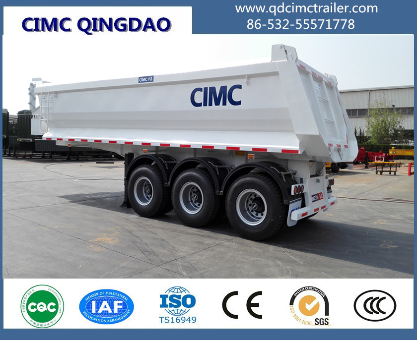 Cimc U Shape 3 Axle Cimc Dump Semi Trailer Tipper Truck Trailer Truck Chassis