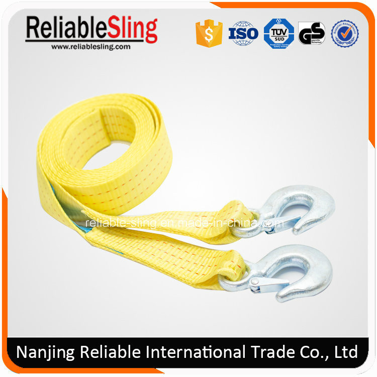Ce TUV Approved Heavy Duty Car Tow Strap Rope