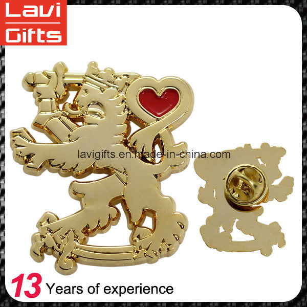 Promotion Gift Wholesale Custom Soft Enamel Logo Gold Metal Lapel Pins