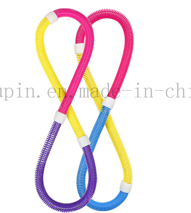 OEM Foldable Plastic Multifunctional Hula Hoop with Spring for Bodybuilding