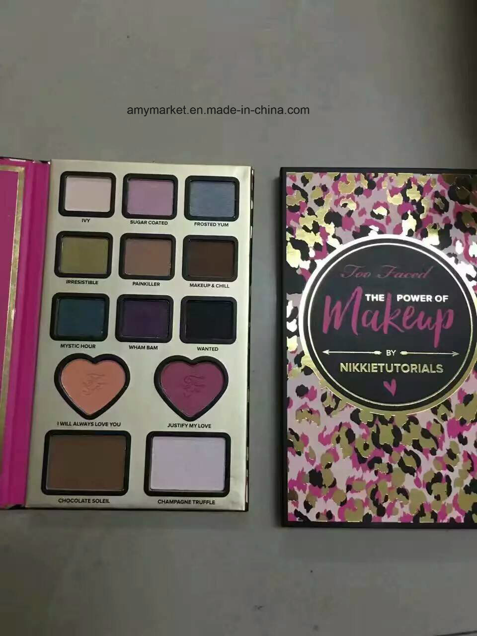 Too Faced The Power of Makeup by Nikkie Tutorials Makeup Eyeshadow Palette 13 Color with Blusher