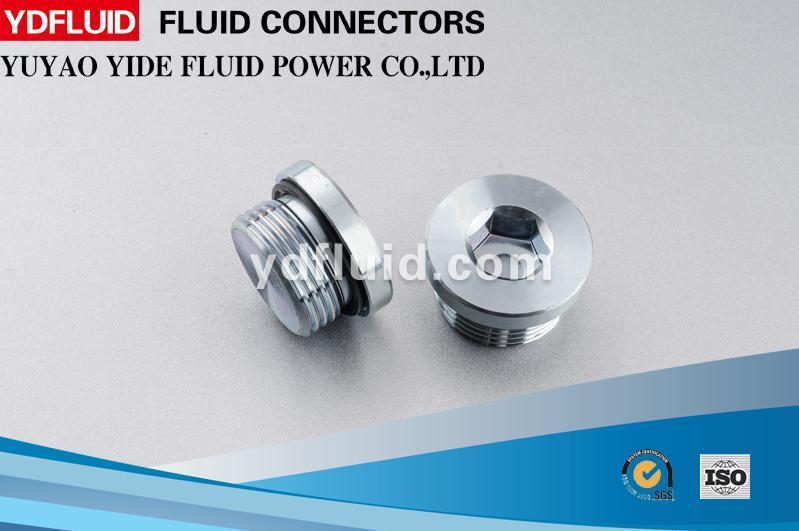 Hexagon Head Male Thread Hydraulic Carbon Steel Fitting Plug