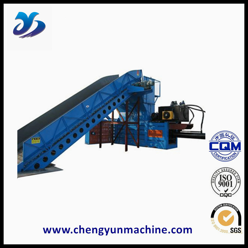 China Customized Hydraulic Vertical Used Clothes Baler