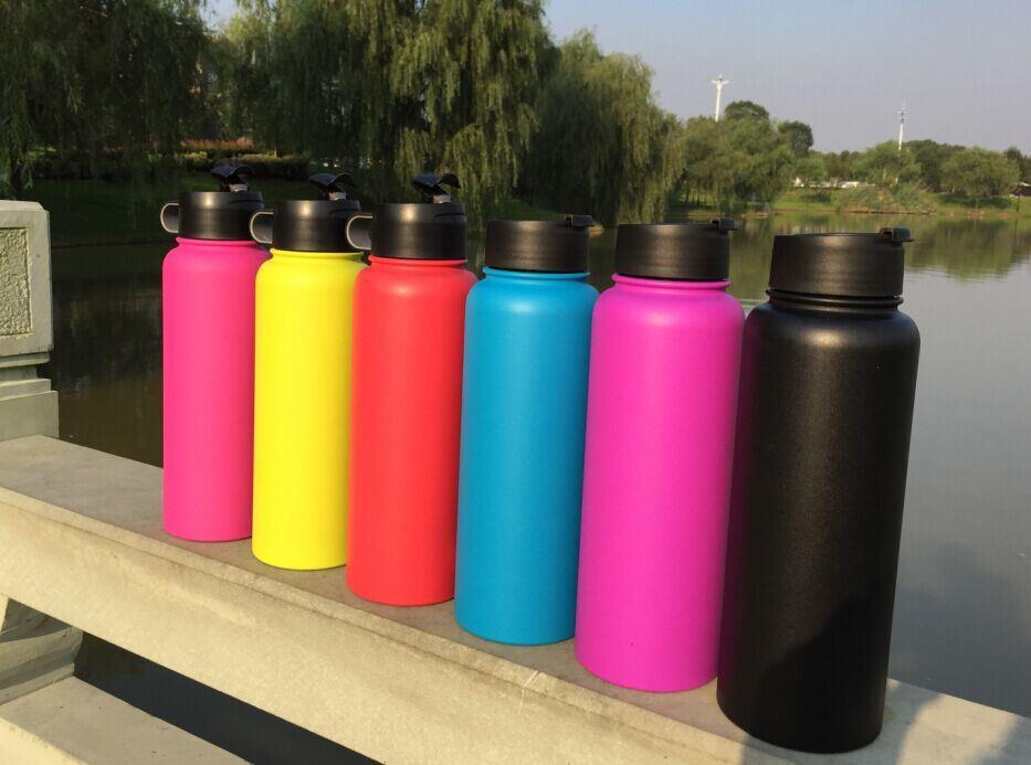 40oz Hydro BPA Free Thermos Vacuum Flask Straw/Normal Lid