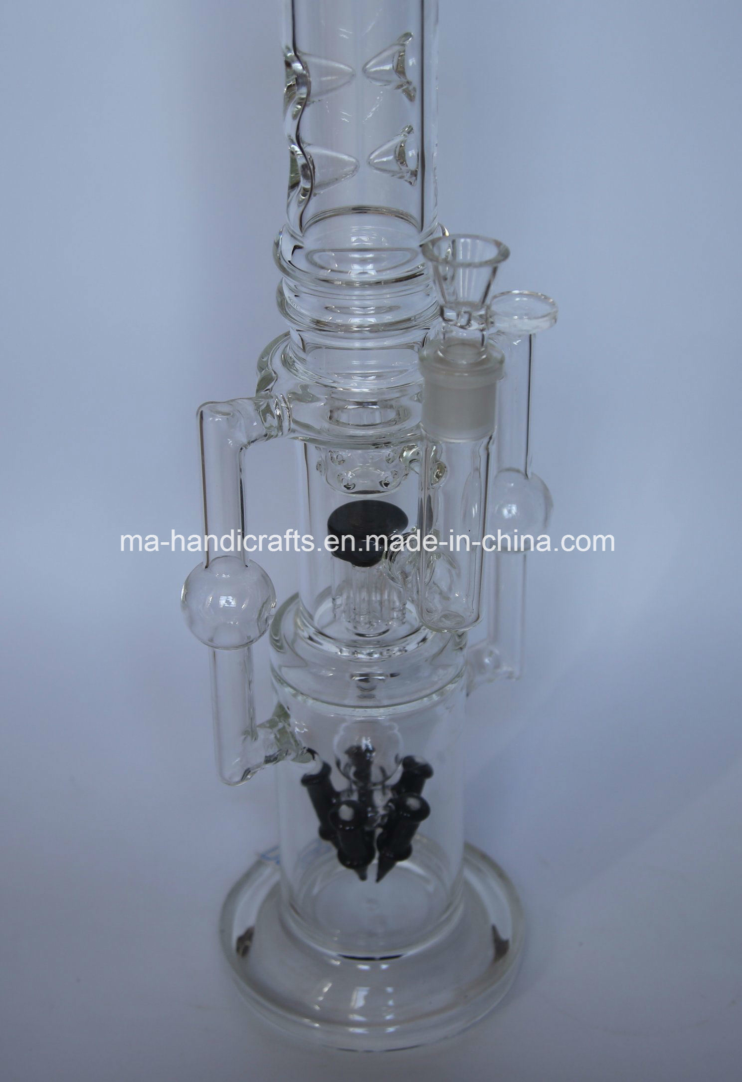 "18"" Rocket Glass Water Pipes with Arm Tree Perc"