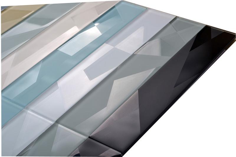 Linear Glass Mosaic Tile Matte White