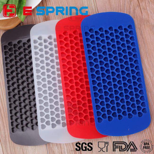 Eco-Friendly Easy Push Ice Cube Tray Loving Heart Shape Silicone Ice Cube Mold