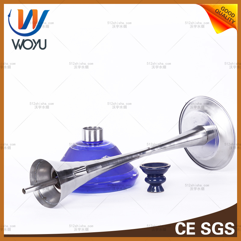 Stainless Steel Big Bottle Hookah Water Pipe Hookah Smoking Shisha Charcoal Blue Smoke Bowl