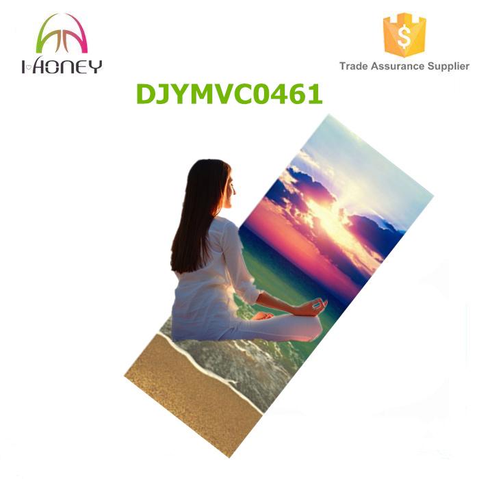 Sunrise Image Printed Meditation Yoga Mat Premium Microfiber Suede
