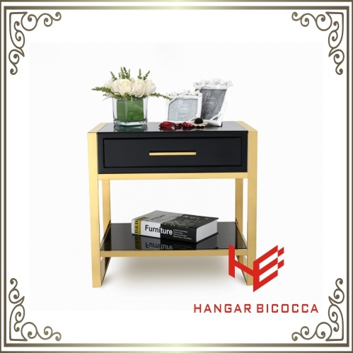 Side Table (RS161601)Bed Stand Stainless Steel Furniture Home Furniture Hotel Furniture Modern Furniture Table Coffee Table Console Table Tea Table Corner Table