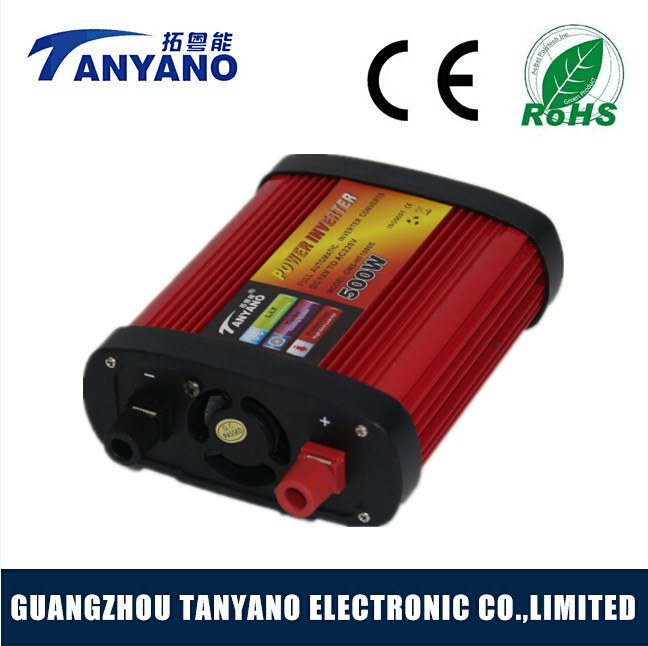 DC 12V to AC 110/220V 500watt Car Power Inverter with USB Modified Sine Wave Inverter
