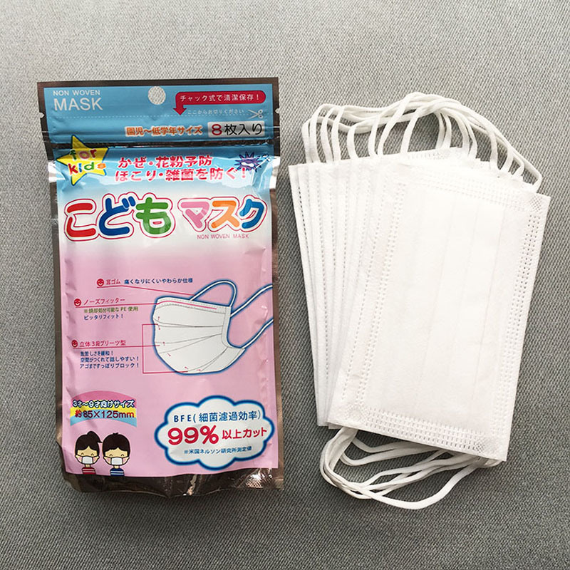 China Manufacture Supply 1ply, 2ply, 3ply Non-Woven Children Face Mask