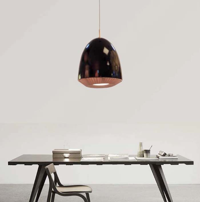D45 Contemporary Indoor Black Metal Hanging Suspension Pendant Lamp Light for Dinging Room