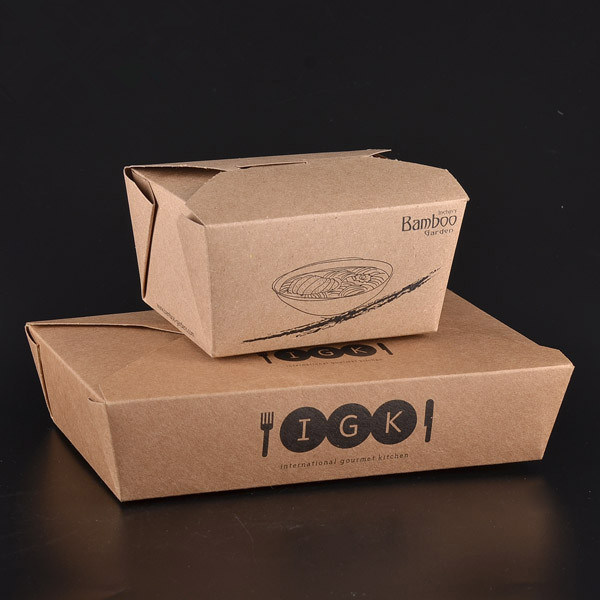 Disposable Kraft Paper Box for Food Package