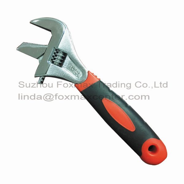 2-in-1 Wide Jaws Adjustable Wrench with Big Grip Multi-Used (WB-003)