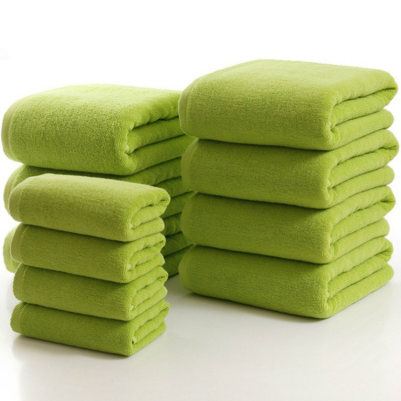 High Quality Plain Dyed Solid Color Cotton Custom Face Towel