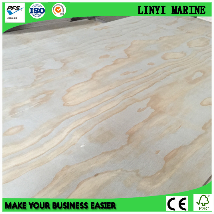 Pine Face and Back BB/CC Grade Poplar Core Plywood