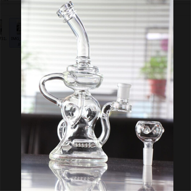 Elvis Klein Clear Glass Water Pipes Oct Oil Rig DAB