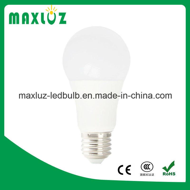Plastic+Aluminum E27 9W LED Home Bulb Light with 85-265V