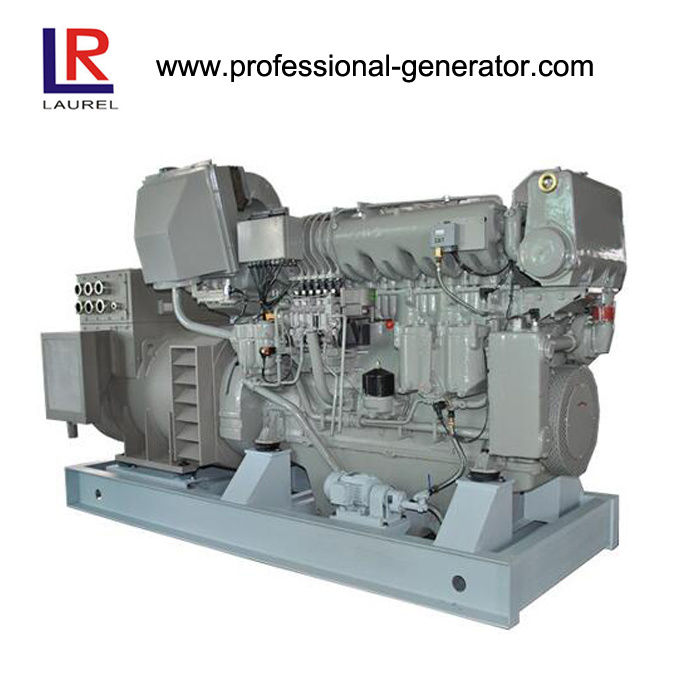 650kw 6 Cylinders Radiator Cooled Marine Generator Set