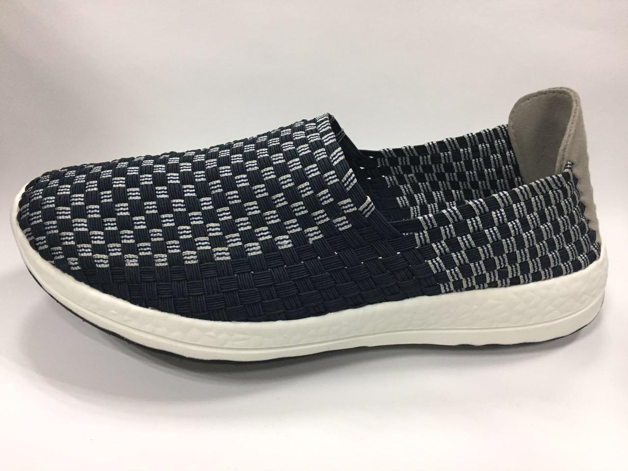New Design Elastic Woven Shoe for Men