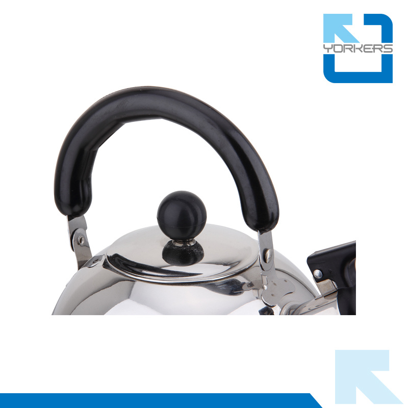 1L/2L/3L/4L High Quality Stainless Steel Flat Bottom Whistling Kettle