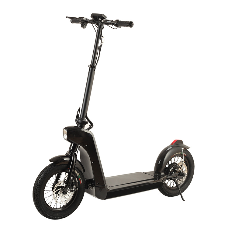 Smartek Smart Fashion Folding E-Bike- 14 Inch Wheel Size with LED Light Standing Smart Electric Scooter Patinete Electrico S-005-2