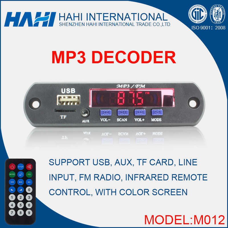 High Quality USB/TF Card MP3 Decoder Board (M012)