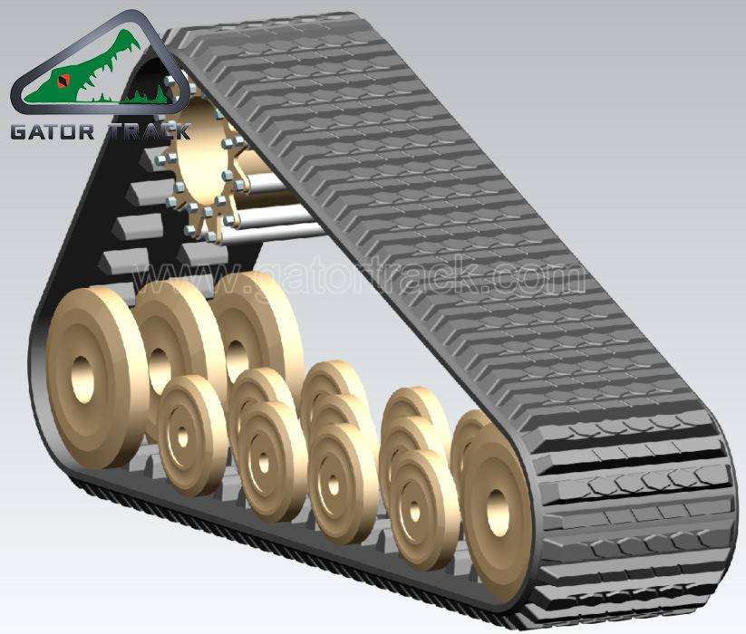 20′′x4′′x51 508*101.6*51 Compact Track Loader Multi Terrain Loader Track