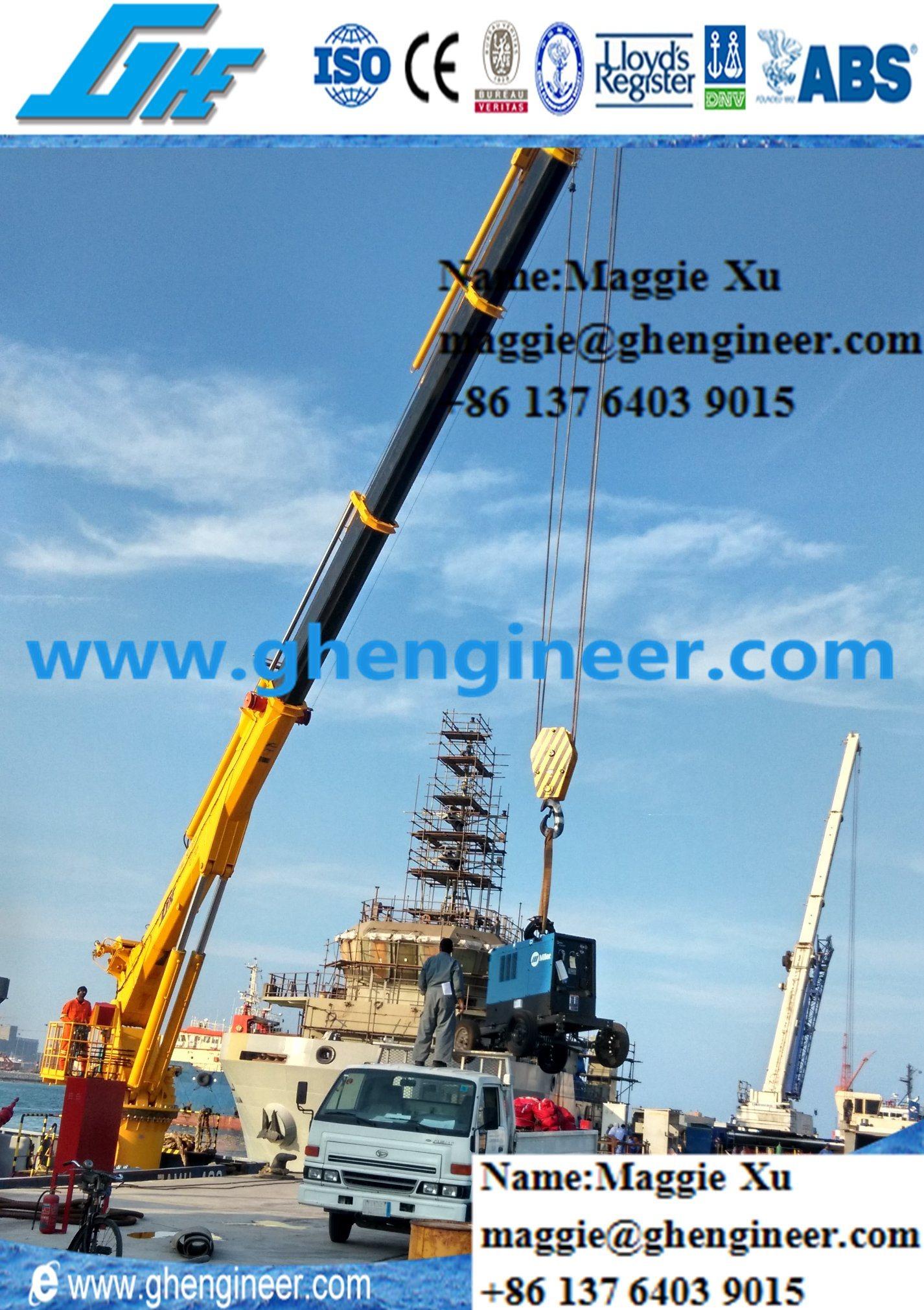 Provision Jib Crane Telescopic Boom Marine Crane