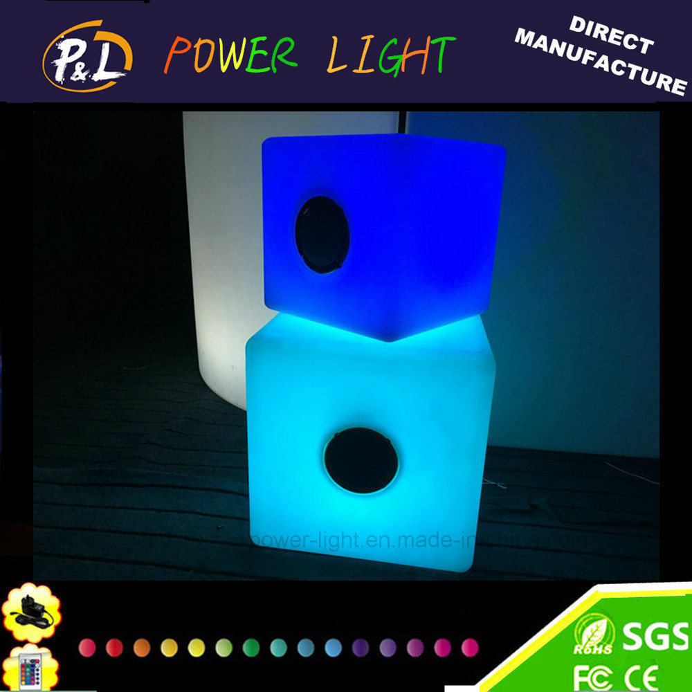 Bluetooth Control Music Playing Chair LED RGB Cube Lighting with Bluetooth Speaker
