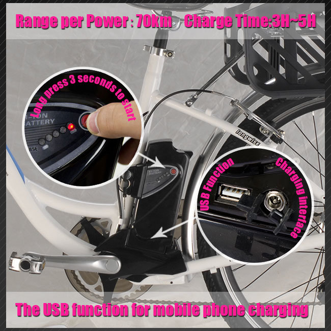 Ce En15194 250W 36V10ah City Electric Bicycle Model (LWEB- L2606)