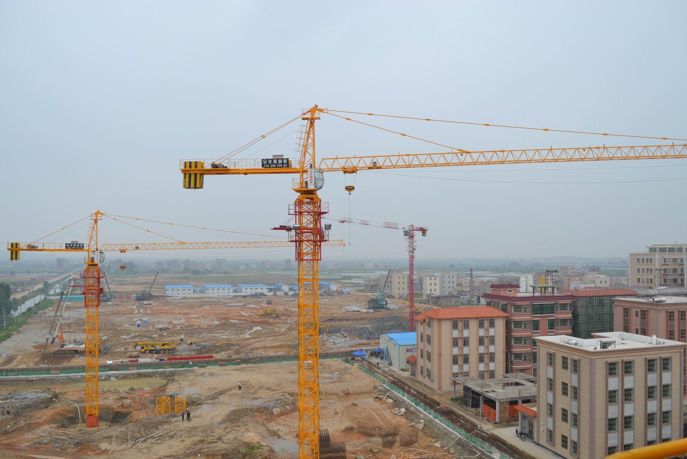 Qtz80 (TCT6013-8) Self-Erecting Construction Building Luffing Crane