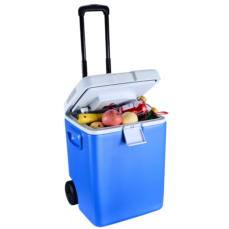 30L DC12V Telescopic Handle Fridge with Cooling and Heating Function