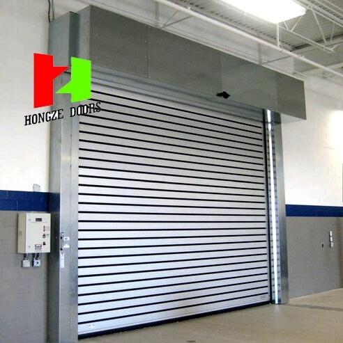 Aluminium Profile Steel Gates Overhead High Speed Roller Shutter Sectional Door (Hz-FC063)