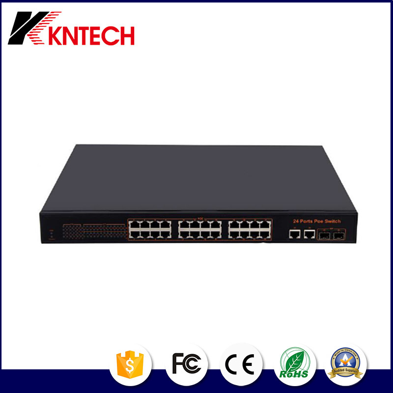 IP Pabx Integrate Kntech 24 Port 10100Mbps Poe Switch Knps-24-a