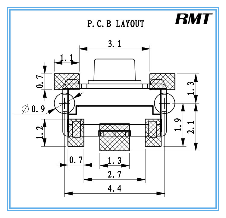 Tact Switch/Tactile Switch (TS-1100AAFCT) for Elder People Mobile