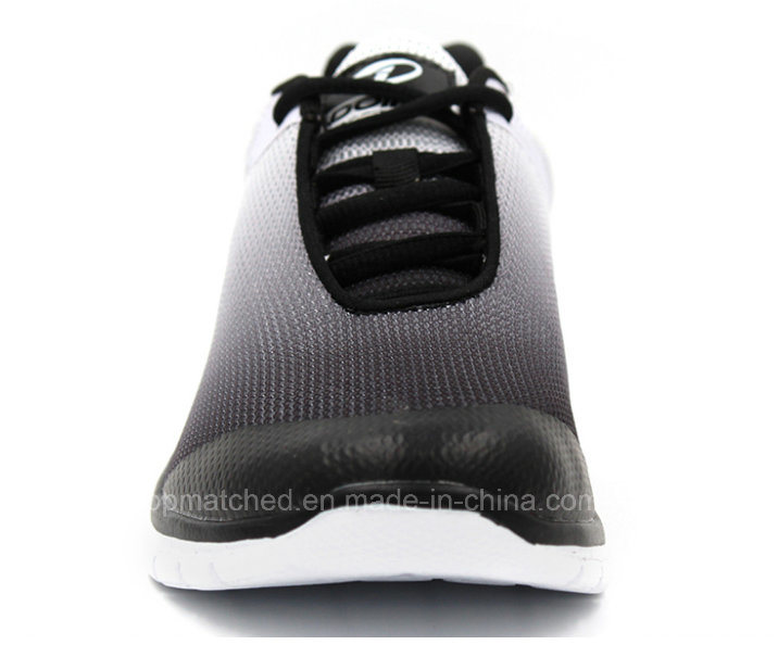 Breathable Gradient Black Air Sports Men Running Shoes