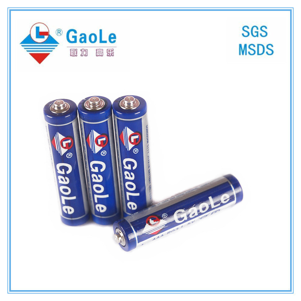 AAA 1.5V R03 Zinc Chloride Battery (Mercury free)