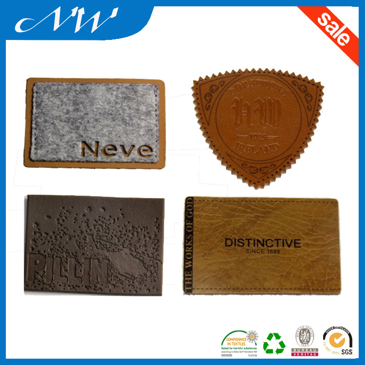 Custom Your Own Logo Embossed Leather Patch for Jeans