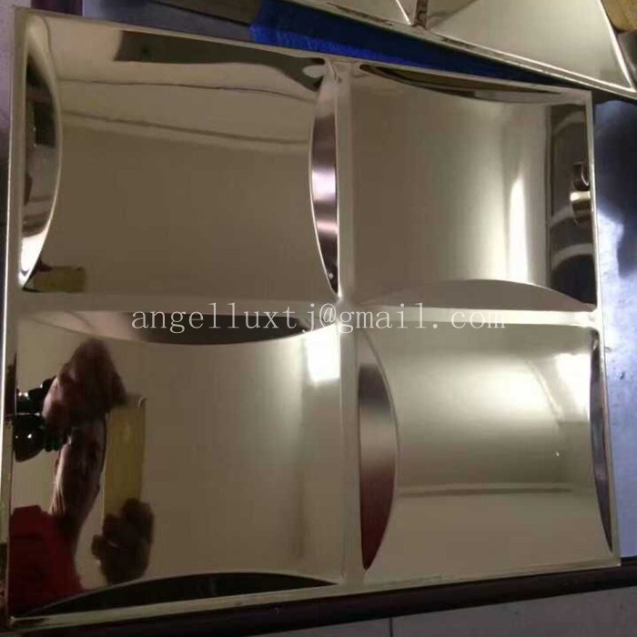 Three Dimensional Decorative Mirror Embossed 4X8 Stainless Steel Sheet
